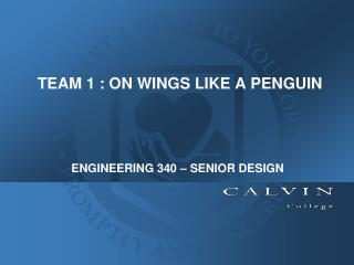 TEAM 1 : ON WINGS LIKE A PENGUIN