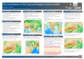 The Contribution of OLG Data and Analysis Centre to EPOS