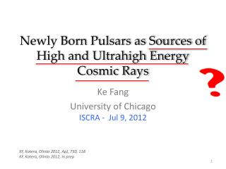 Newly Born Pulsars as Sources of  High and Ultrahigh  Energy Cosmic Rays