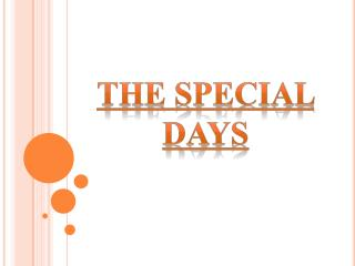The Special Days