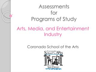 Assessments  for  Programs of Study
