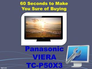 Panasonic VIERA TC-P50X3