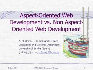 Aspect-Oriented Web Development vs. Non Aspect-Oriented Web Development