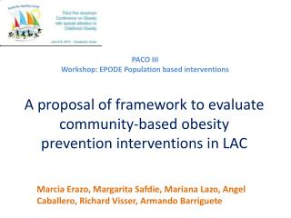 A proposal of framework to evaluate community-based obesity prevention interventions in LAC