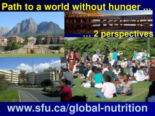 Path to a world without hunger ...