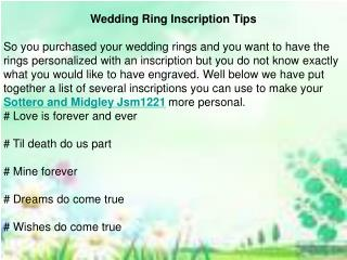 Wedding Ring Inscription Tips