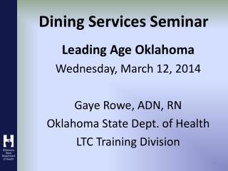 Dining Services Seminar