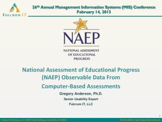 26 th  Annual Management Information Systems  (MIS )  Conference February 14, 2013