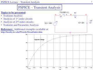 PSPICE Lecture – Transient Analysis