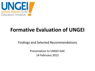 Formative Evaluation of UNGEI