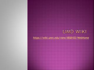 UMD Wiki