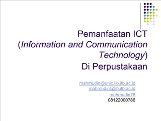 Pemanfaatan ICT  Information and Communication Technology ...
