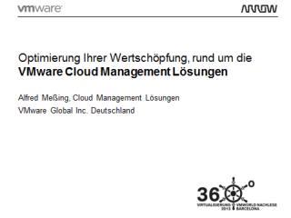 Optimierung Ihrer Wertschöpfung, rund um die  VMware  Cloud  Management Lösungen