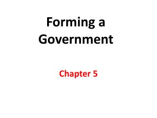 Forming a Government