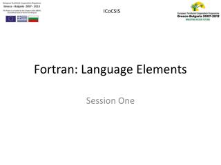 Fortran: Language Elements