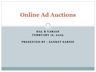 Online Ad Auctions