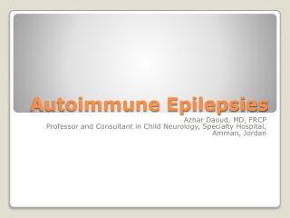 Autoimmune Epilepsies
