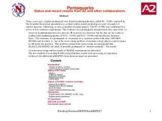 Pentaquarks