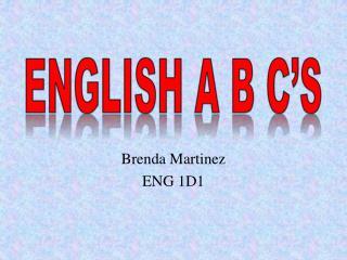 English A B C's