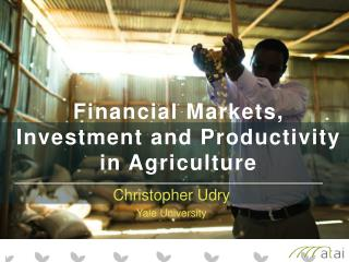 Financial  Markets, Investment and Productivity in  Agriculture