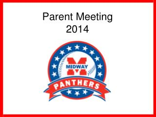 Parent Meeting 2014