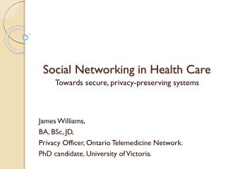 Social Networking in Health Care