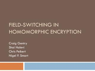 Field-Switching in Homomorphic  Encryption