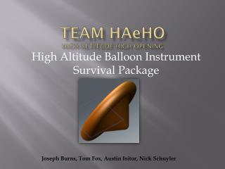 Team  HA e HO High Altitude High Opening