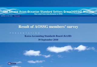 Result of AOSSG members' survey