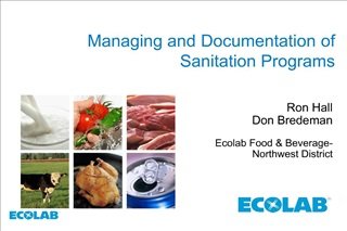 Managing and Documentation of Sanitation Programs