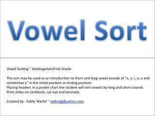 Vowel Sort