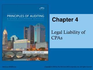 Legal Liability of Audtiors