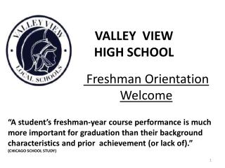 Freshman Orientation Welcome