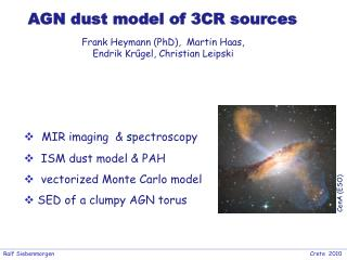 AGN dust model of 3CR sources