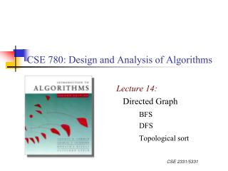 CSE 780: Design and Analysis of Algorithms