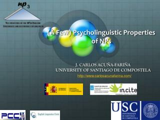 ( A Few) Psycholinguistic Properties of NPs