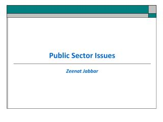 Public Sector Issues