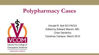 Polypharmacy Cases