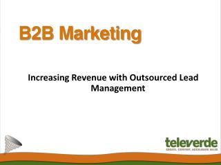 B2B Marketing - Televerde