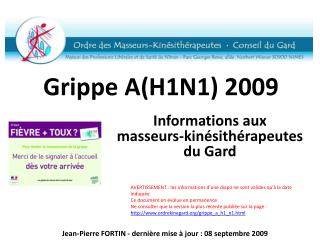 Grippe  A(H1N1 ) 2009