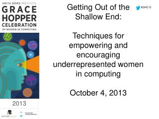 #GHC13
