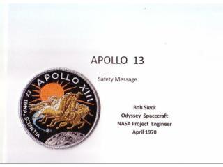 APOLLO  13 Safety Message