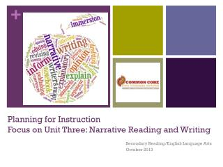 Planning for Instruction Focus on Unit Three: Narrative Reading and Writing