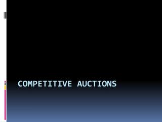 Competitive auctions