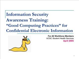 Information Security Awareness Training: