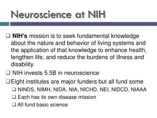 Neuroscience at NIH