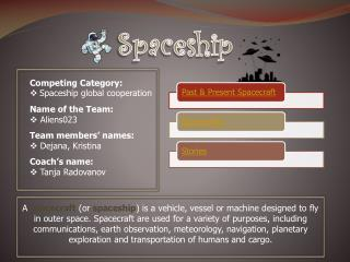 Competing Category:  Spaceship  global cooperation
