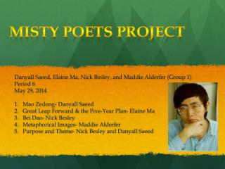 Misty Poets Project