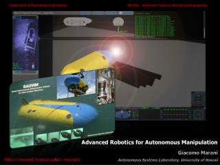 Advanced Robotics for Autonomous Manipulation