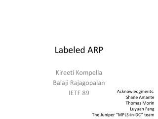 Labeled ARP